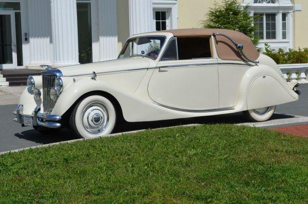 1950 Jaguar MKV Chrome 1950 Jaguar Model MKV Drop Head Coupe 6 Cylinder 3.5 Liter