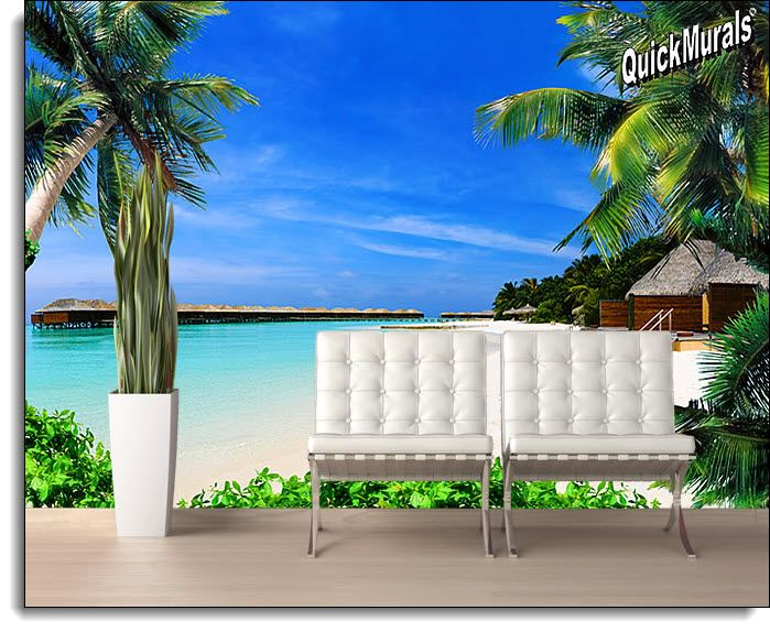 Beach Resort Peel And Stick Wall Mural Part 78