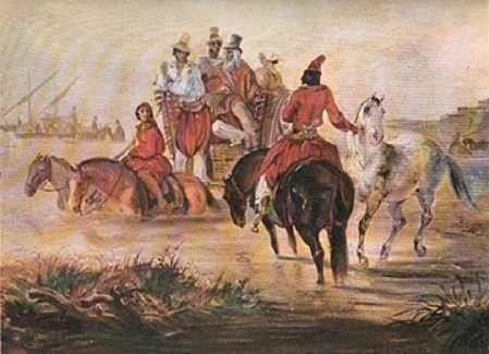 JOHANN MORITZ RUGENDAS-DESEMBARCO EN BS AS-1845