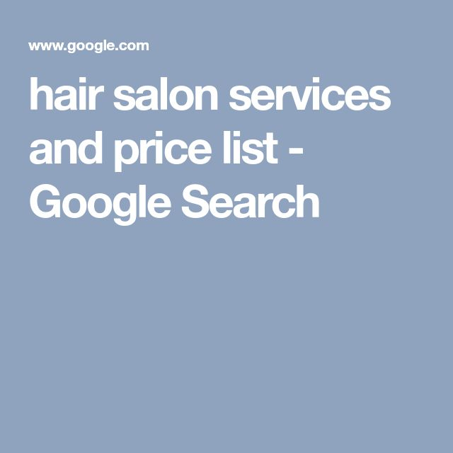 The 25+ Best Hair Salon Price List Ideas On Pinterest Hair Salon   Sample  Spa