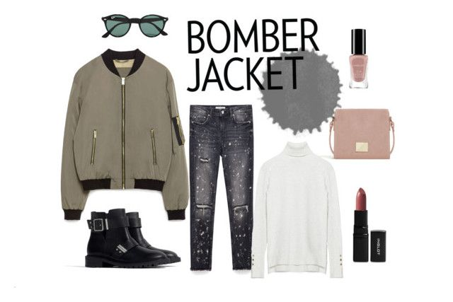 BOMBER 1 by patrycja-bobek on Polyvore featuring moda, Zara, Ray-Ban and Inglot