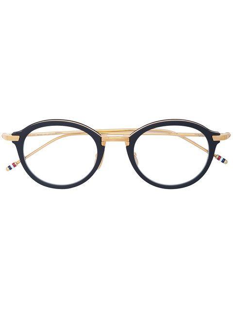 76bd289f786 Thom Browne Eyewear Round Shaped Glasses - Farfetch