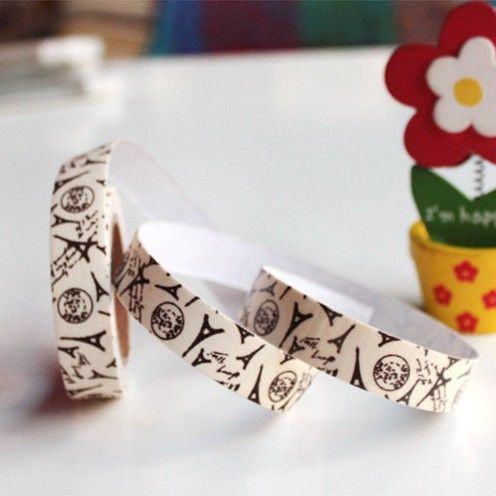 Hot selling  wholesale European style tower cloth lovely creative decoration tape 4916 #Affiliate