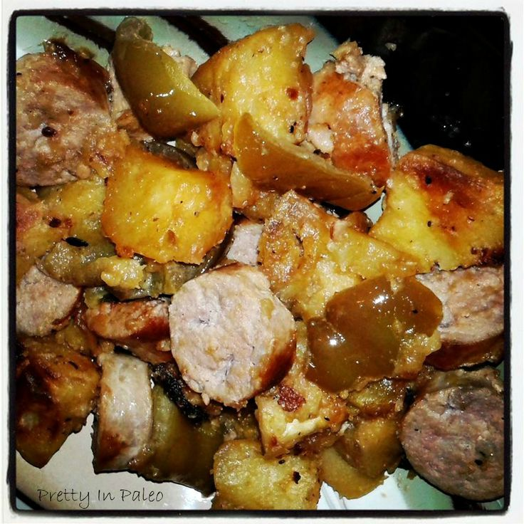 Italian Sausages with Potatoes and Vinegar Peppers from http ...
