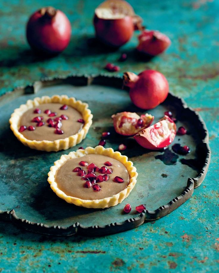Vietnamese coffee tart with fresh pomegranate by Luke Nguyen from The Food of Vietnam | Cooked