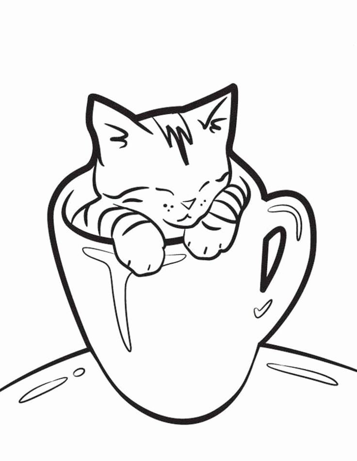Pin On Coloring Cat Pages