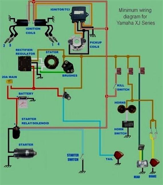Yamaha XJ series minimum wiring diagram | bike stuff ... on