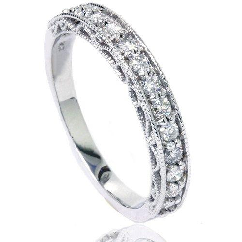 Top 25 best Vintage diamond wedding bands ideas on Pinterest