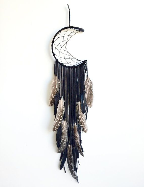 Crescent moon dreamcatcher  custom order  by fujiyamamamamai, $75.00 http://www.artistdds.com/home-2/