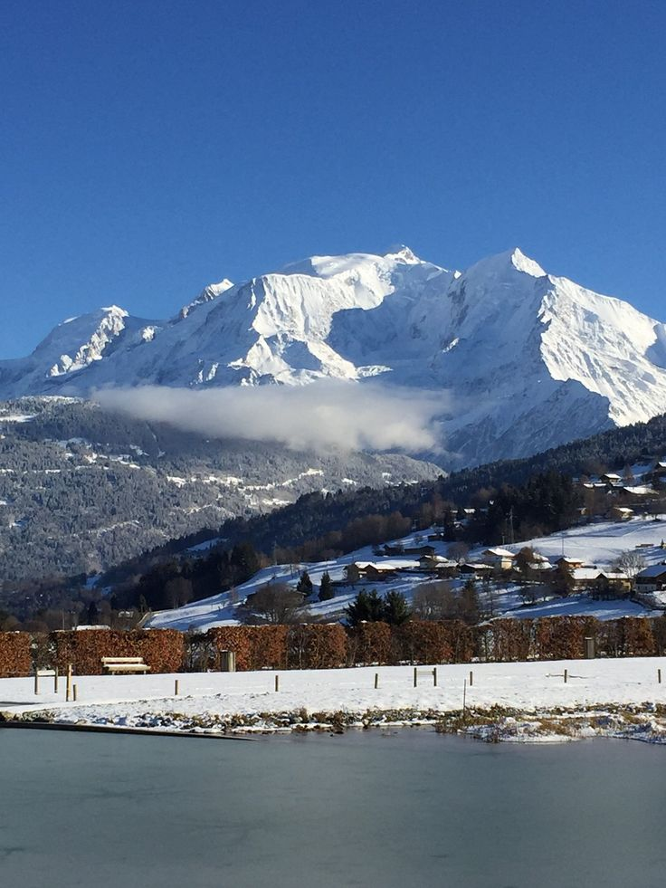 Mille bises from Mt Blanc #Megeve