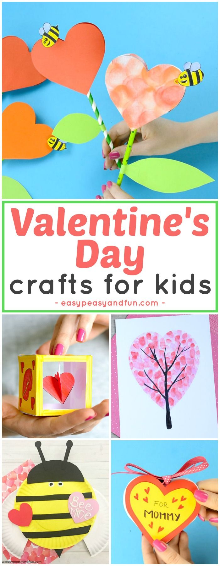Fun Valentine's Day crafts for kids. Art and craft ideas and crafts with templates for all ages.