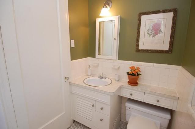 Small Bathroom Remodel  Good use of space over the toilet