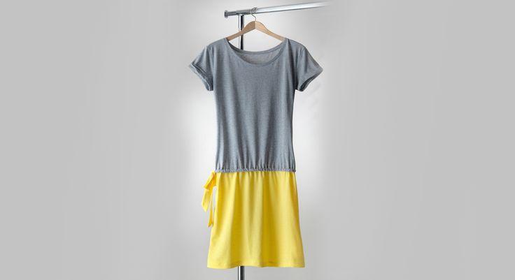 2 t-shirt que l'on transforme en 1 robe… Un cache-maillot tout léger parfait pour les vacances, on peut même la porter en robe bain de soleil.Un petit basique qui ne me quittera pas ...