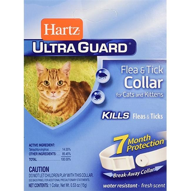 Hartz Ultra Guard Reflecting Flea Tick Cat Collar Fleas Cats Kittens Flea Tick