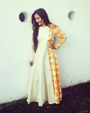 Long plain simple anarkali