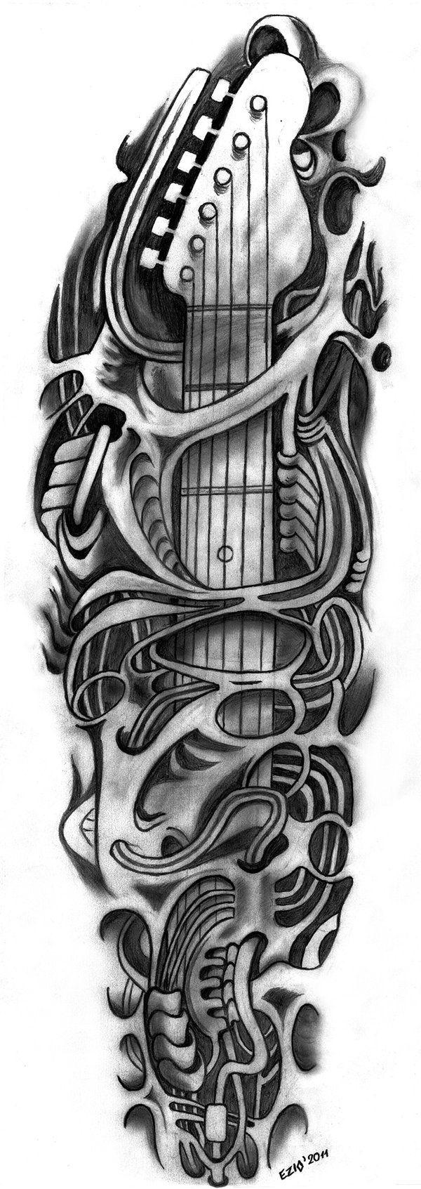 Guitar tattoo | Tattoo flash | Pinterest