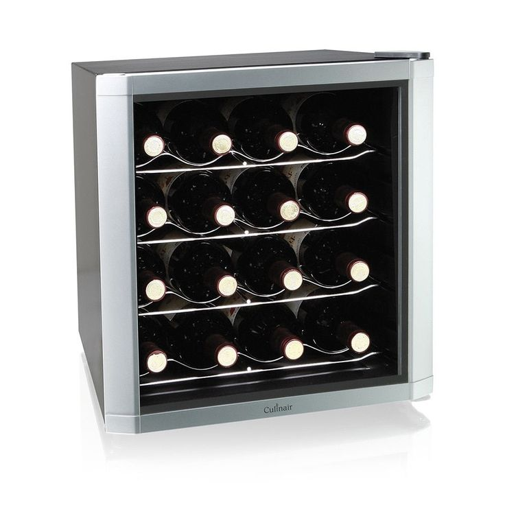 Culinair AW162S 16 Bottle Thermoelectric Wine Chiller (Silver, 16 bottle)