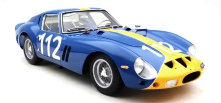 FERRARI 250GTO -  1:8 scale -  =========================Just 5 pieces of each of the 32 'Series 1' chassis, precisely modeled with the race livery and set-up with which each chassis appeared at its most significant event in 1962 or 1963. 3445 GT was completed on April 30th in 1962. - $10,400.00
