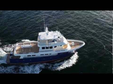 Check out this amazing offering from Allseas Yachts of San Diego.  She is a steel 92 foot expedition yacht with an Aluminum superstructure that was build for the rough stuff but is also incredibly refined.  High tech meets the open ocean.  Contact builder Tim Alls for an appointment to view this exceptional yacht.