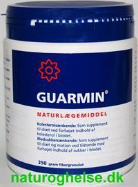 Guarmin Granulat kan sænke dit kolesteroltal og blodsukker.