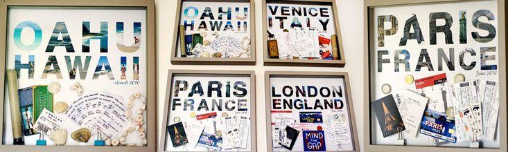 Erinnerungen an vergangene Urlaube landen meist verschlossen in einem Fotoalbum. Wir haben eine kreative Möglichkeit entdeckt, wie man sich jeden Tag daran erfreuen kann. Gefunden auf: Designer Home