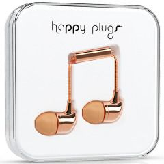 Happy Plugs In-Ear Earphones is a fresh take on jewellery. Upgrade your look with the most contemporary fashion detail of them all: stylish quality headphones in rose gold.