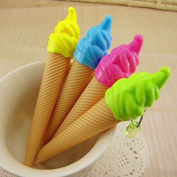 6 pçs/lote criativo ice cream caneta gel caneta Kawaii para a escrita caneta material escolar papelaria material escolar escritório OP032 em Canetas Gel de Office & School Suprimentos no AliExpress.com | Alibaba Group