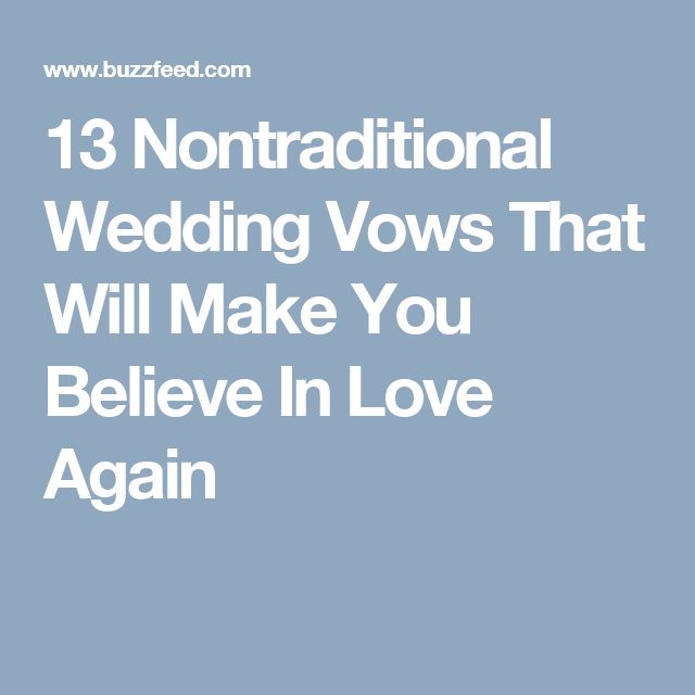 13 Nontraditional Wedding Vows That Will Make You Believe In Love Again •  I love the sock and sarcasm ones