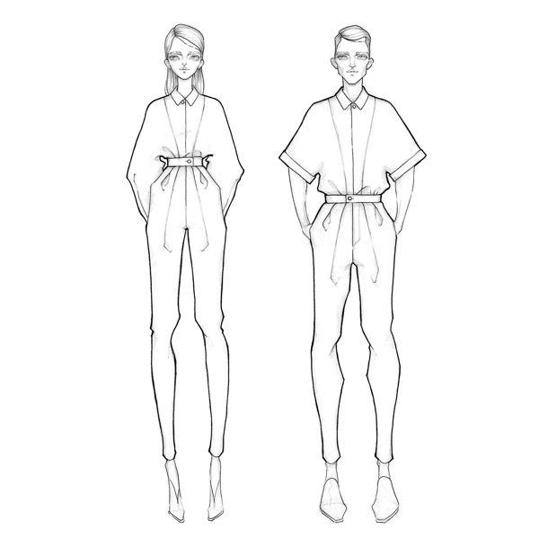 Fashion illustration - fashion design  // Milan Zejak