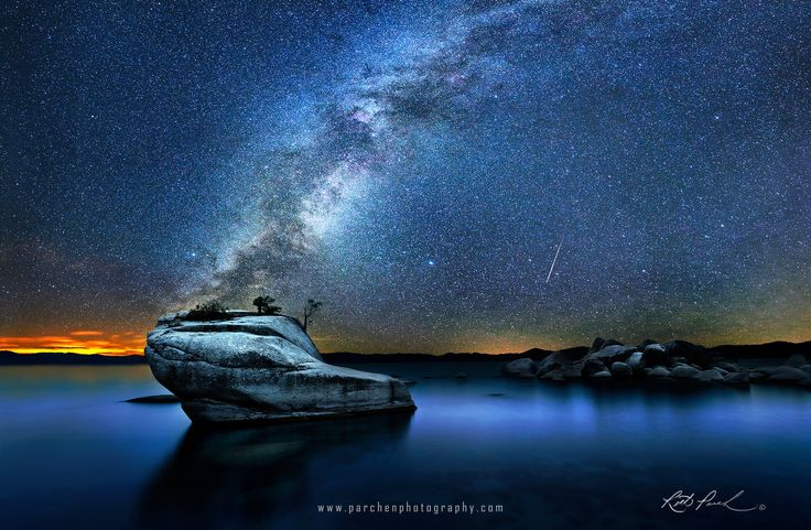 Meteor over Lake Tahoe
