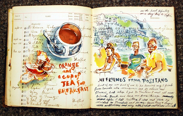 Sketchbuck, series of sketchbook pages. I wish I had time to keep an art journal. One day