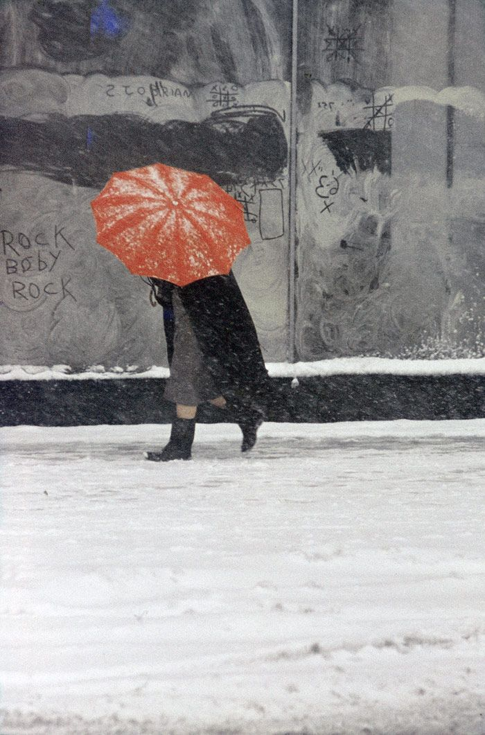 Saul Leiter  Red Umbrella  ca. 1958  © Saul Leiter  Courtesy: Howard Greenberg Gallery, New York