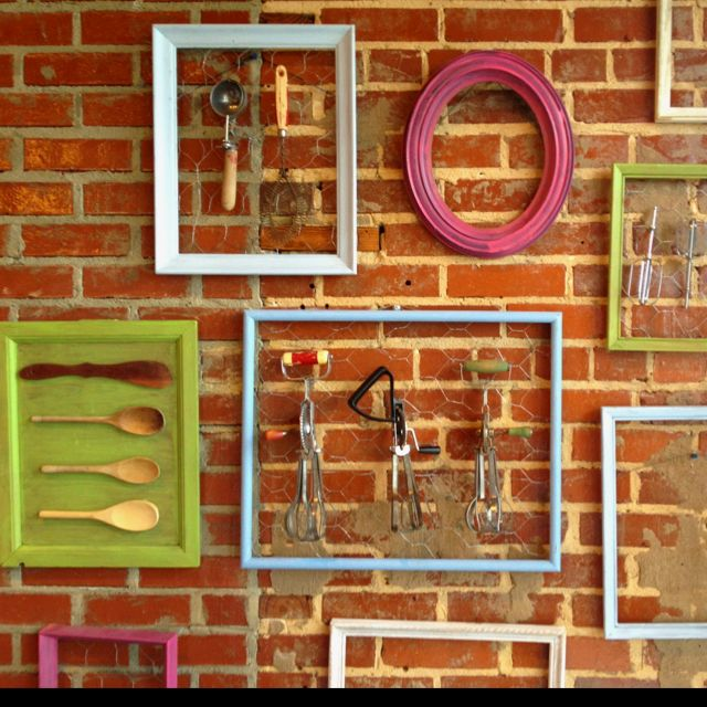Love this for the kitchen, now I need to find some old baking utensils