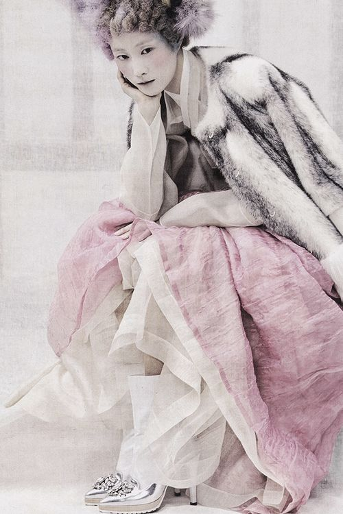 """Powdery Flower"" by Koo Bon Chang | Vogue Korea, January 2014"