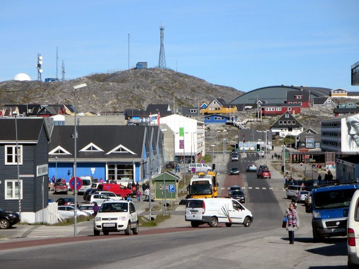 Aqqusinersuaq is the main street in Nuuk, capital of Greenland. A third of the island's population lives in this city.