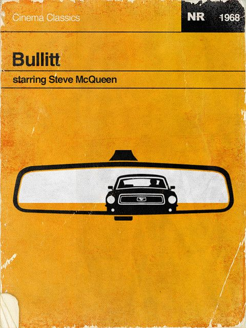 From waynedahlberg:  There is a trend lately to design retro, penguin-book style covers and posters for popular movies and contemporary video games. Here's my take on my favorite car chase movie, Bullitt, starring Steve McQueen.