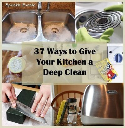 37 ways to give your kitchen a deep clean roundups for Deep clean kitchen