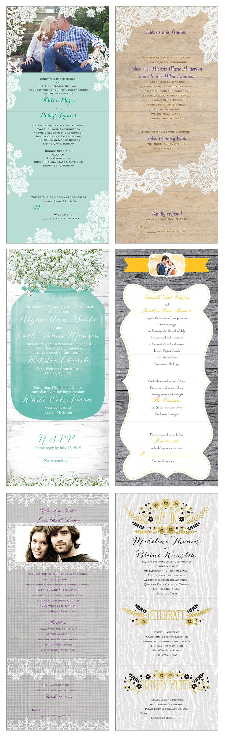 7 best Seal and Send Wedding Invitations images on Pinterest ...