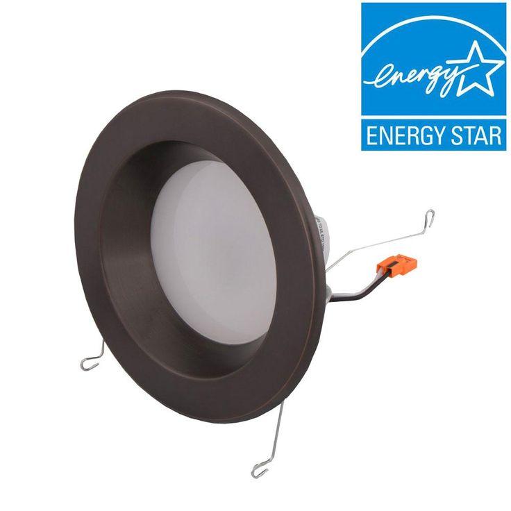 EnviroLite 6 in. Bronze Trim Integrated LED Recessed Ceiling Light, 3000K, 95 CRI, 753 Lumen