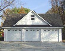 17 best images about garage on pinterest 3 car garage for Reverse gable garage