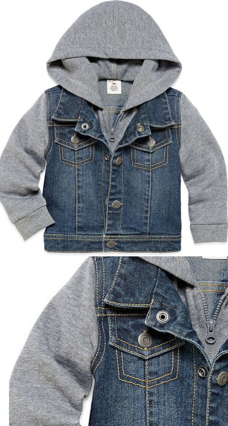 It's hard to find anyone that will look cooler than your boy in our awesome denim jacket from Arizona.#boyclothing #boyfashion #shopping #ad #baby #toddler #love #style