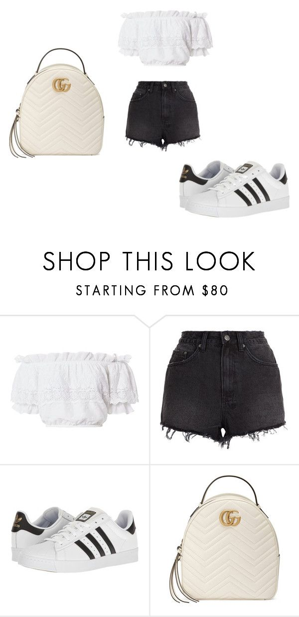 """""""...."""" by kkristinss on Polyvore featuring LoveShackFancy, Ksubi, adidas and Gucci"""
