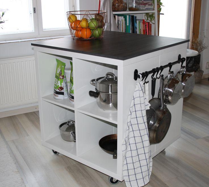 DIY, Ikea, Kallax, island in 2020   Küche mit insel, Regal ...