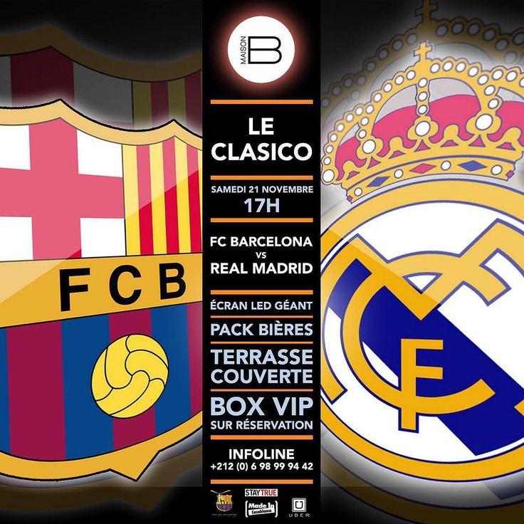 LE CLASICO SUR ECRAN LED GEANT > Fc BARCELONA  vs REAL MARDID > SAMEDI 21 NOVEMBRE - 17h @ MAISON B > PACK BIÉRE /  TERRASSE COUVERTE / BOX VIP SUR RÉSERVATION >>> Infoline : 06 98 99 94 42 Follow the Event ! >>> http://ift.tt/1H8Gj1Z by maisonbcasa