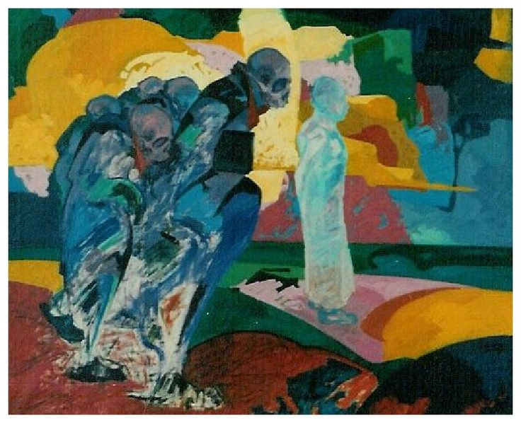 Hükümlü / Condamné / Convict - Oil on canvas-100x120-1989