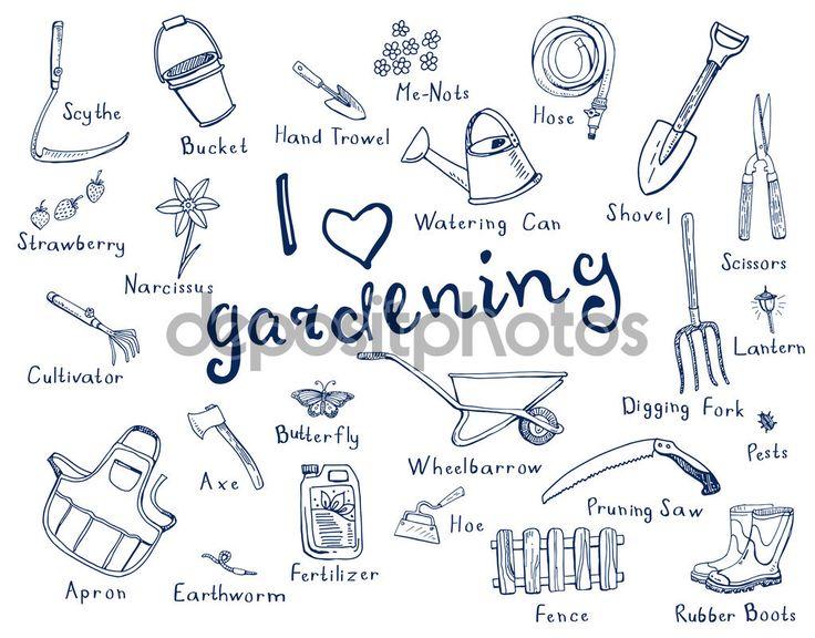 92 migliori immagini learning english su pinterest - Attrezzi da giardino nomi ...