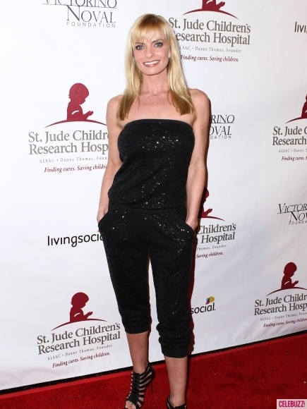 Jaime Pressly arrives at Rouge Follies Celebrity Holiday Spectacular, to benefit St. Jude Children's Hospital held at The #Fonda #Theatre in Hollywood on December 9, 2012.