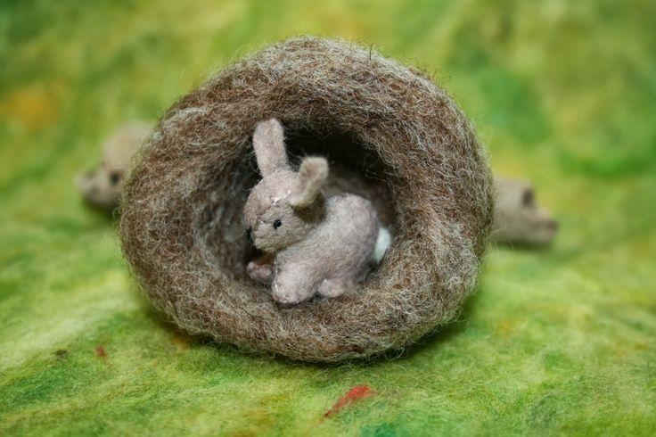 Love this little miniature bunnies in their Burrows......