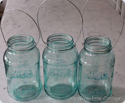 making your own blue mason jars