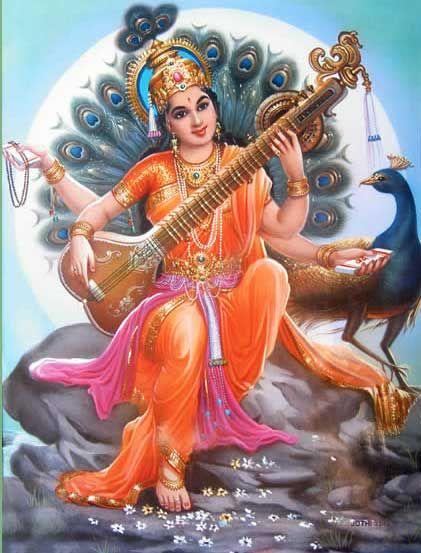 Goddess Saraswati Paintings Goddess saraswati